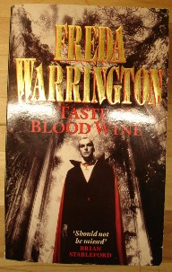 Warrington, Freda. 'A Taste of Blood Wine', published in 1993 by Pan Books Ltd, 578 pages. ISBN 0330328468. Sorry, sold out, but click image to access prebuilt search for this item on Amazon UK