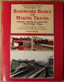 Booth, Trevor. 'Baseboard Basics and Making Tracks: Planning, Baseboard Construction, Track-Laying, Wiring', published by Silver Link Publishing in 2002 (reprint), paperback, 96pp, ISBN 1857940067. Condition: Very good, nice, clean copy, well looked-after. Has tiny spot of surface damage to cover near the base of the spine, but overall this is an excellent copy. Price: �9.95, not including p&p, which is Amazon's standard charge (currently �2.75 for UK buyers, more for overseas customers