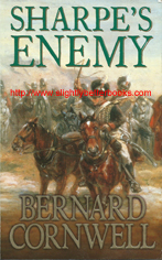 "Cornwell, Bernard. ""Sharpe's Enemy. Richard Sharpe and the Defence of Portugal, Christmas 1812"", published in 1994 in Great Britain in paperback, 350pp, ISBN 0006170137. Sorry, sold out, but click image to access a prebuilt search for this title on Amazon UK"