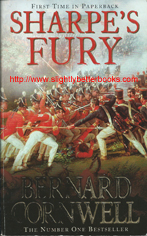 "Cornwell, Bernard. ""Sharpe's Fury. Richard Sharpe and the Battle of Barrosa, March 1811"", published in 2007 in Great Britain by Harper in paperback, 378pp, ISBN 9780007120161. Condition: Good+ condition with some rubbing to the cover edges and corners and some slight foxing (tanning or browning) to the internal pages. Price: £2.99, not including post and packing, which is £3.25 for UK buyers, more for overseas customers"