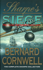 "Cornwell, Bernard. ""Sharpe's Siege"" published in 1993 in Great Britain in paperback, 319pp, ISBN 0006175244. Sorry, sold out, but click image to access a prebuilt search for this title on Amazon UK"