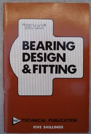 "Bradley, Ian; and Hallows, Norman [known as ""Duplex"". 'Bearing Design & Fitting' published by Model Aeronautical Press, undated paperback copy, staple binding, 72pp. Copy in very good condition, well looked-after & clean. Price:£15.00, not including p&p, which is Amazon's standard charge (currently £2.75 for UK buyers, more for overseas customers)"