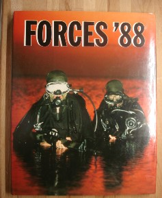 Lindo, Lloyd. 'Forces '88'. Hardcover book, Marshall Cavendish, 1987, 144 pages about the armed forces in 1988, particularly looking at terrorist weaponry at that time, and the US Sixth Fleet amongst other topics. Price £8.25, not including p&p, which is Amazon's standard charge, currently £2.75 for UK customers, more for overseas buyers)