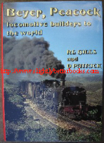 Hills, R.L. and Patrick, D. 'Beyer, Peacock: Locomotive Builders to the World', published in 1982 by The Transport Publishing Company, Glossop, Derbyshire, in hardcover with dustjacket, 302pp, ISBN 0903839415. Sorry, sold out, but click image to access prebuilt search for this title on Amazon
