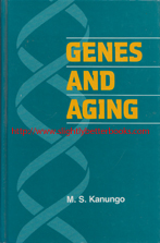 Kanungo, M. S. 'Genes and Aging', published in 1994 in the United States by Cambridge University Press, in hardback, 322pp, ISBN 0521382998. Condition: very good, neat, clean and tidy copy, well looked-after. Price: £5.00, not including post and packing, which is Amazon UK's standard charge (currently £2.80 for UK buyers, more for overseas customers)