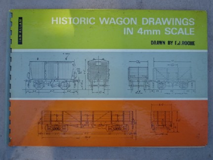 Roche, F. J. 'Historic Wagon Drawings in 4m Scale', published in 1975 in hardcover by Ian Allan, 4th impression, 0711001847, 38pp. Sorry, sold out, but click image to access prebuilt search for this title on Amazon