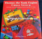 "Turvey, Helena. ""Thomas The Tank Engine Cross Stitch. 20 Designs based on the Railway Series by the Rev. W. Awdry"", published in 1995 by Hamlyn Books in Great Britain in hardback, 112pp, ISBN 0600588564. Condition: ex-library with all the normal library markings and a plastic cover protecting the exterior. Price: £4.75, not including p&p, which is Amazon's standard charge (currently £2.80 for UK buyers, more for overseas customers)"