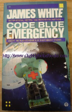 White, James. 'Code Blue-Emergency', published by Orbit in 1989, pbk. Price: £9.25, not including p&p, which is Amazon's standard charge (currently £2.75 for UK buyers and more for overseas customers)
