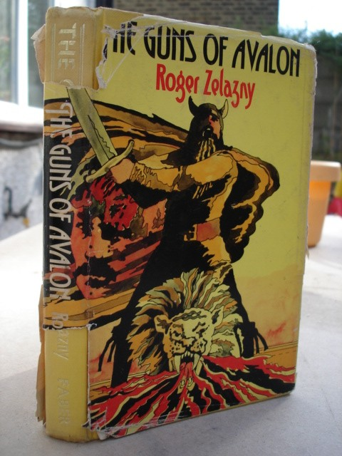 Zelazny, Roger. The Guns of Avalon, published by Faber and Faber, 1974. UK 1st Edition with dustjacket (somewhat tatty), ISBN 0571104908. 182pp. Price: £6.00 (not including postage, which for UK buyers is Amazon's standard £2.75 charge, more for overseas buyers)